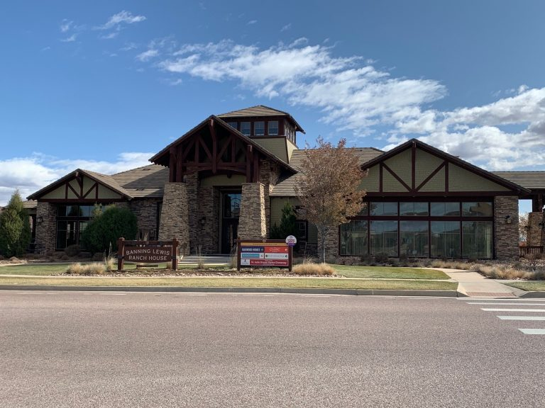 the craftsman style Banning Lewis Ranch Community House building