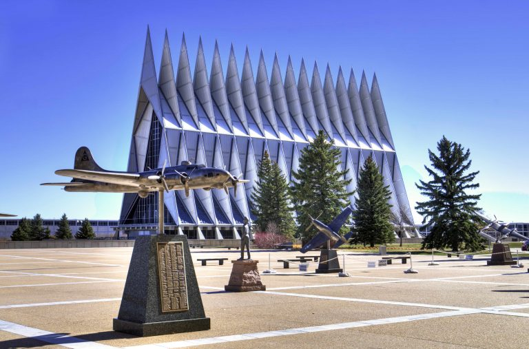 the chapel at the Air Force academy in Colorado Springs