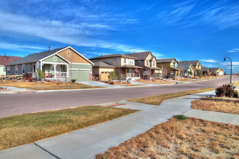 craftsman style homes in a neighborhood along the powers corridor in Colorado Springs